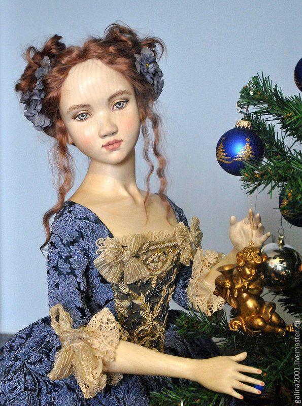 Купить Софи - кукла из дерева - синий, дерево, липа, авторская работа, авторская ручная работа #woodendoll
