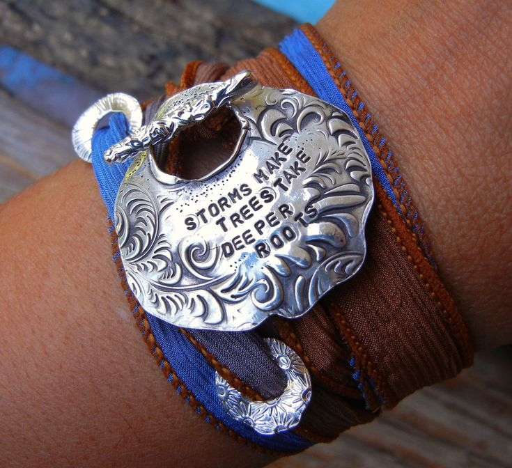 LOVE this saying!! Personalized Silver Jewelry Bracelet. $57.00