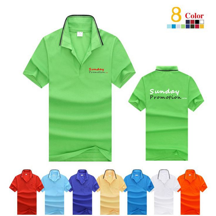 This is a 35% Cotton Black Trim Custom Polo Shirts with Logo, soft and good. quality, www.Sundaypromotion.com where you can buy free shipping printed promotional gifts.
