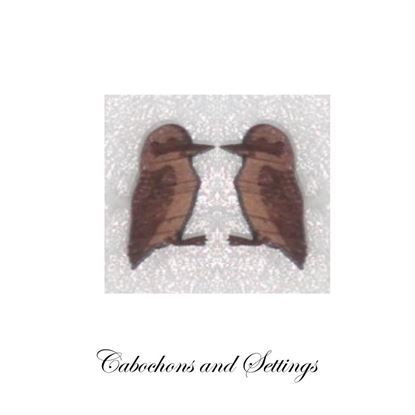 Show details for Kookaburra Cabochon Tasmanian Timber Laser Cut Australian Native Creature Wooden Cabochons