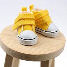 Бесплатная доставка мини-холст обувь 4.5 см для 1/6 маштаба куклы, Мода бжд куклы аксессуары разные цвета высокое качество(China (Mainland))