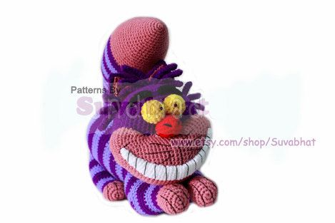Cheshire Cat Amigurumi Crochet Pattern Free : Cheshirecat : Crochet Pattern (PDF) Alice...Niver 1 ...