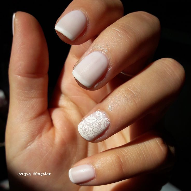 french nails~ french manicure ~stamping nails
