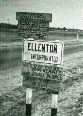 Ellenton Sc Was Acquired By The U S Atomic Energy Commission In 1950 As A Site For The Savannah River Plant To Build Nuclear Weapons A Sign On
