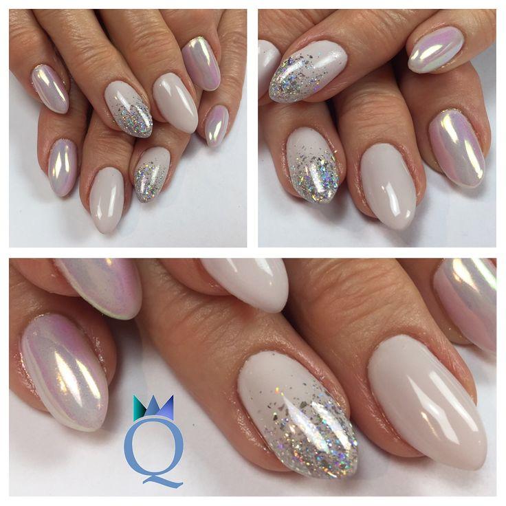 almondnails gelnails nails softlilac white chrome. Black Bedroom Furniture Sets. Home Design Ideas