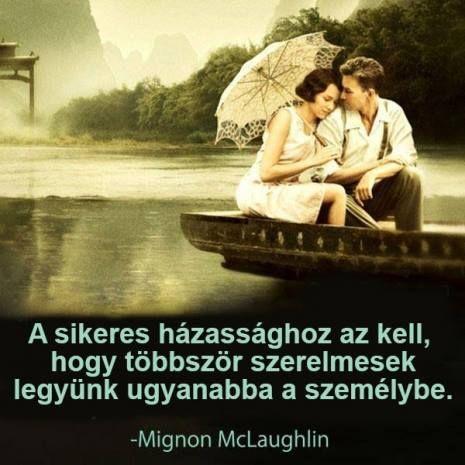A sikeres házasság...