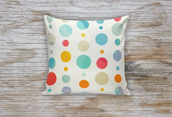 Colored Dots Decorative Pillows