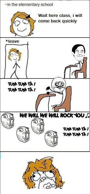 Image title: I Miss Doing This In School! - Posted in: Funny, Troll Face Comics Pictures - Tagged: Classroom, Funny Facts photos