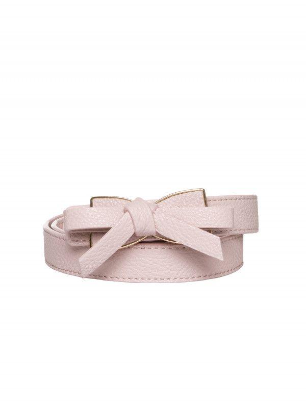 Tie My Bow Belt Blush L