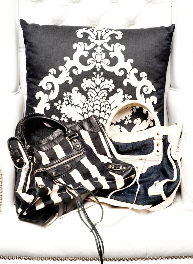 Nicky Hilton's Balenciaga's taking a nap: http://www.thecoveteur.com/Nicky_Hilton