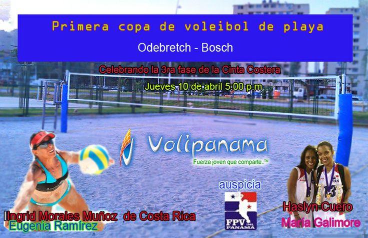 Primera Copa de voleibol de playa Odebretch- Bosch en la cancha de la cinta costera 3