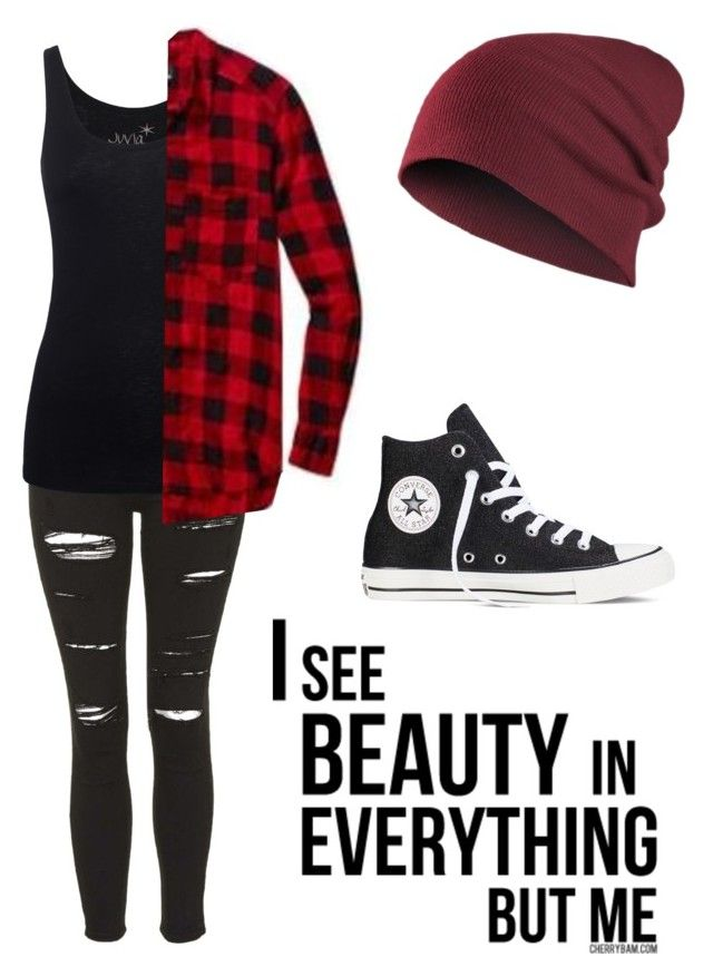 """""""Untitled #580"""" by bands-music ❤ liked on Polyvore featuring Topshop, Juvia and Converse"""