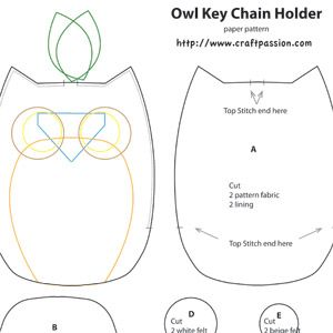 17 best images about paper chain patterns on pinterest for Owl templates for sewing