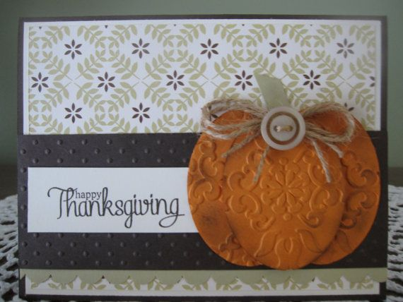 handmade stampin up fall cards | Stampin' Up Handmade Greeting Card Happy by ConroysCorner on Etsy
