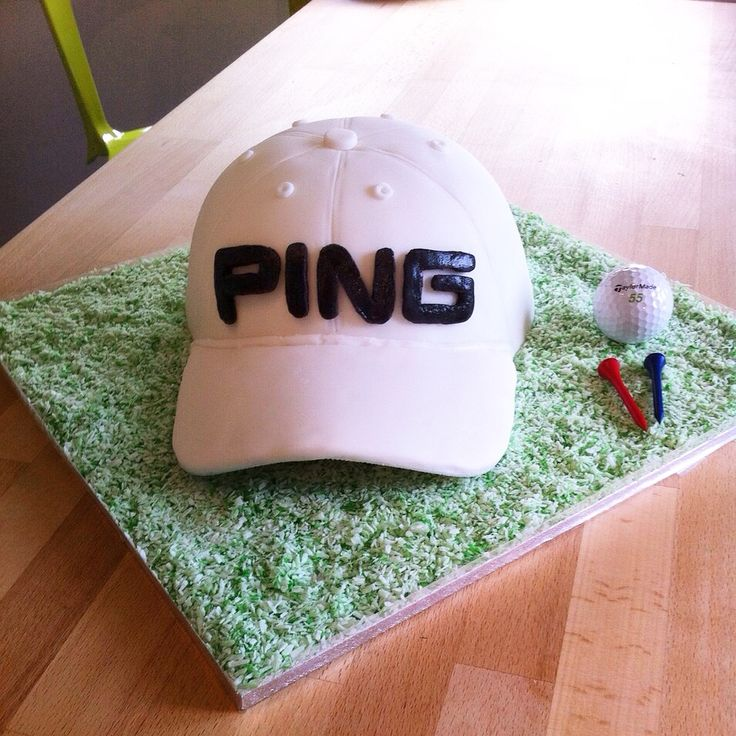 The White Ping Cap Golf Cake I made for Hubby's 40th birthday.