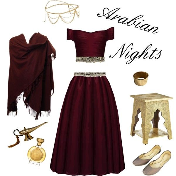 Arabian Nights by willowthebee on Polyvore featuring Mikael Aghal, Michael Kors…