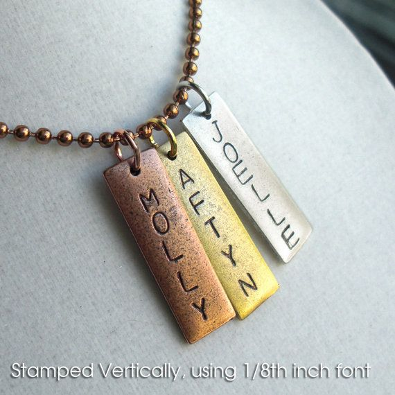 Personalized necklace with a charm for each cold. $10.00