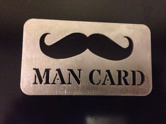Mustache Man Card Bottle Opener Stainless Steel Made To
