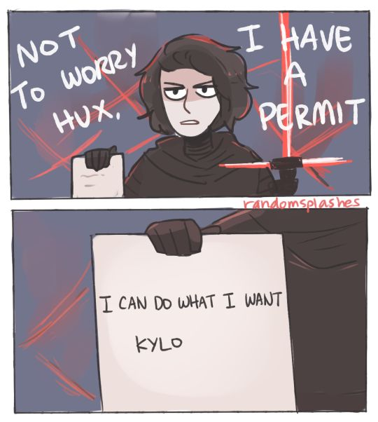 that's it, that's how kylo got away with so much shit in the movie