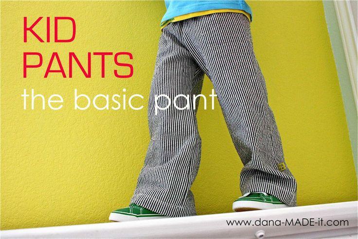 TUTORIAL and PATTERN: Kid Pants, the basic pants | MADE    Basically like the fleece longies I used to make Brooke, super easy
