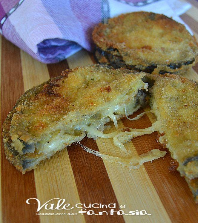 Melanzane impanate con cuore filante al formaggio