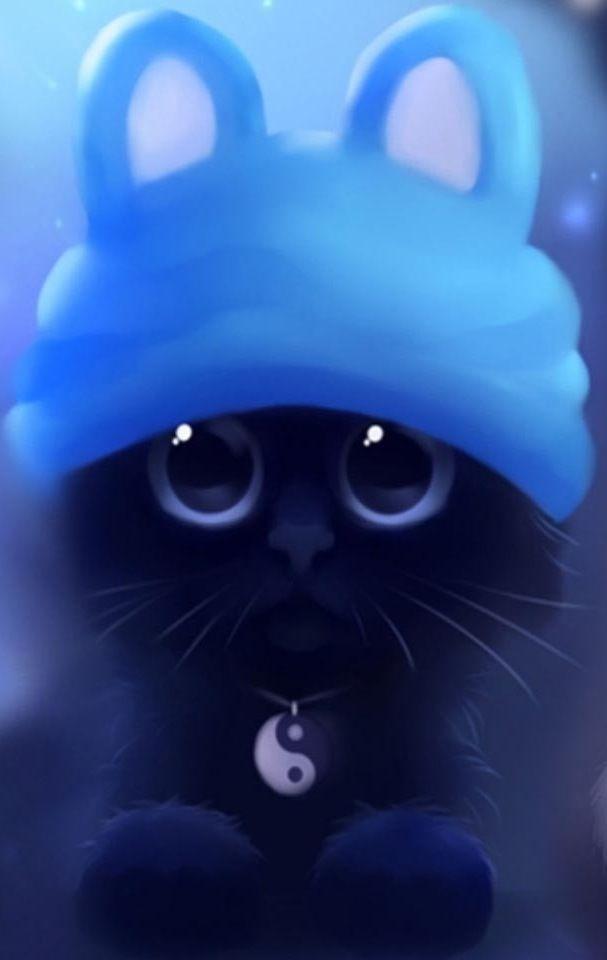 Kitten cartoon image via WallpapersHD