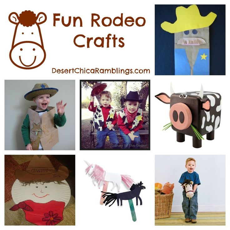 Fun Rodeo crafts and activities for kids including a cowboy woody vest and stick horse. Plus links to Sheriff Callie party ideas.