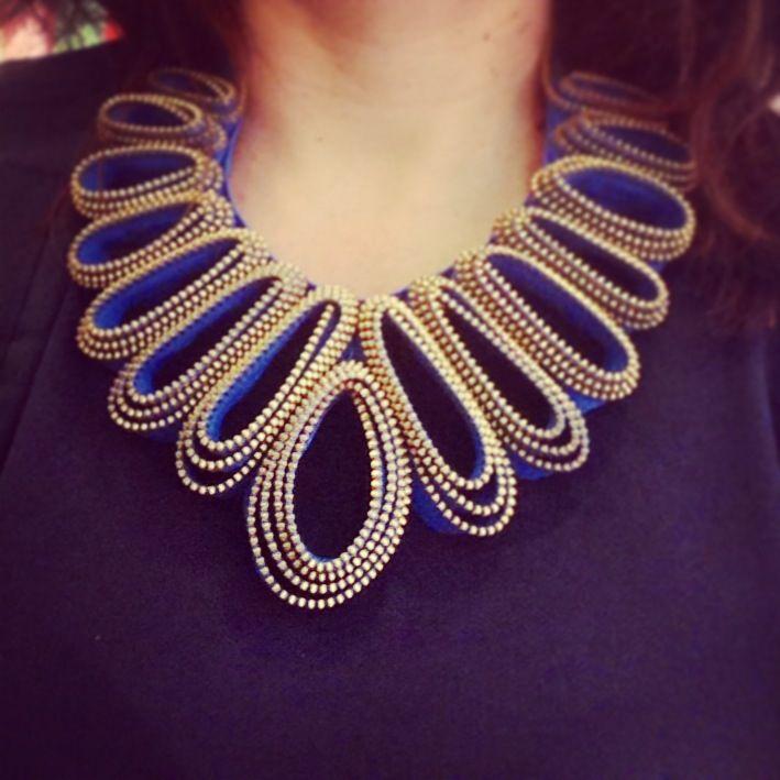 Zipper necklace by Mink.