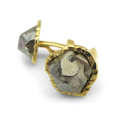 """Cartier Pyrite """"Fools Gold"""" Cuff links c. 1970 by   Cartier"""