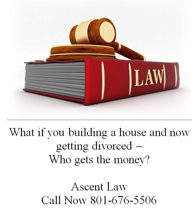 Divorce Question: What if you building a house and now getting divorced – Who gets the money?
