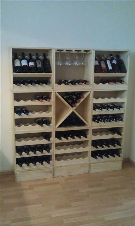 Rustieke houten wijnrekken; een aanwinst voor uw interieur. | Webshop Domus Naturalis