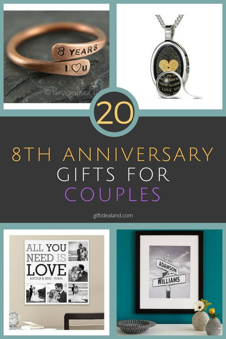 20 Awesome 8th Anniversary Gifts For Couples, Him, Her