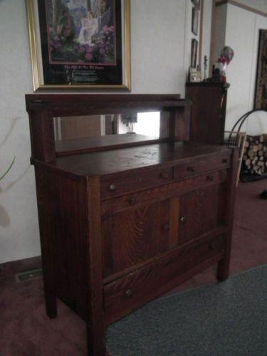 Antique-Mission-Oak-Sideboard-Buffet