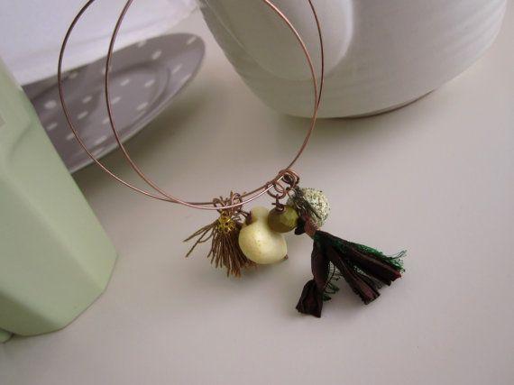 Christmas Earrings Large Hoop Bohemian Earings by catyflowerpower