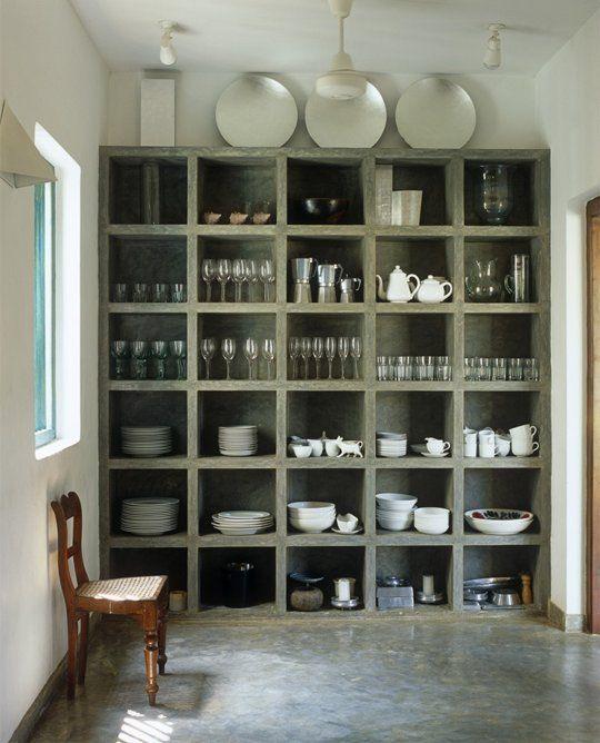 Go Big: Floor-to-Ceiling Kitchen Shelves