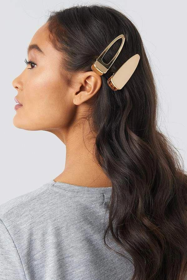 Na Kd Accessories Oversize Metal Hairclips Gold #hairtrendsideas