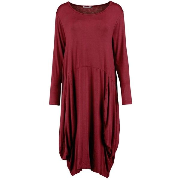 Matilda Oversized Slouch T-Shirt Dress ($1.49) ❤ liked on Polyvore featuring dresses, tshirt dress, slouchy dress, tee dress, red tee shirt dress and t shirt dress