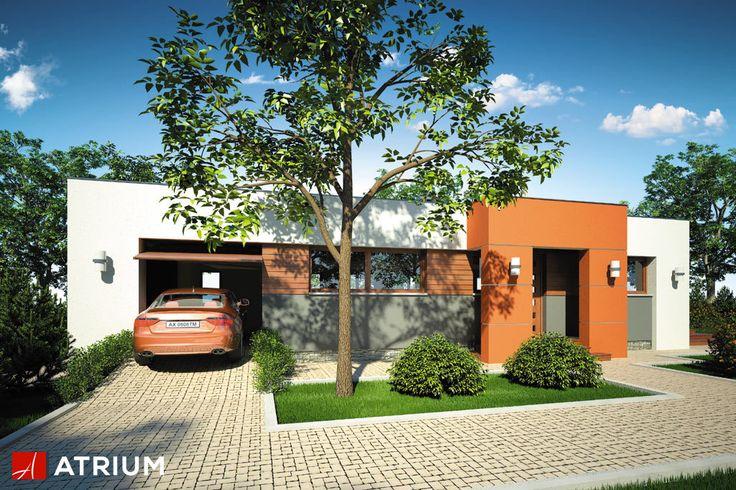 VIVA – nowoczesny, parterowy dom z płaskim dachem. Modernistyczna bryła przyciąga wzrok jasną i czytelną elewacją. Reprezentacyjną część domu stanowi otwarta, przeszklona przestrzeń salonu z kuchnią, skąd przez rozsuwane drzwi mamy dostęp na taras.