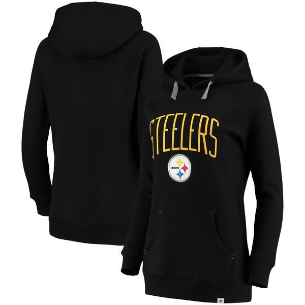 d862d2ec401 ... Pittsburgh Steelers NFL Pro Line by Fanatics Branded Womens  Indestructible Pullover Hoodie - Black - 74.99 ...