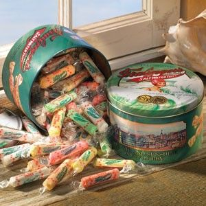 These salt water taffy will look great in the entrance way for guests!
