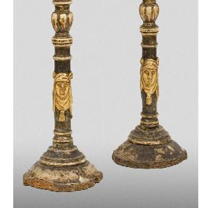 Wood antique candelabra and lamp floor metal