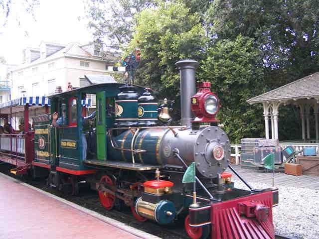 Train at Disneyland.