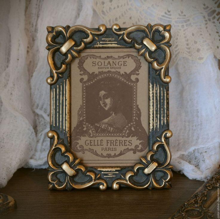 """Купить Фоторамка """"Флер-де-Лис"""" в стиле барокко а-ля старая бронза - бронза"""