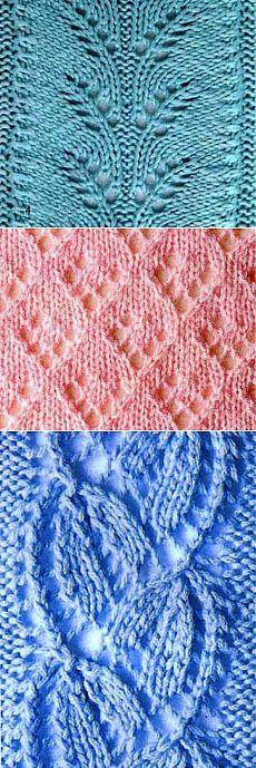 Вязание: красивые ажурные узоры спицами.