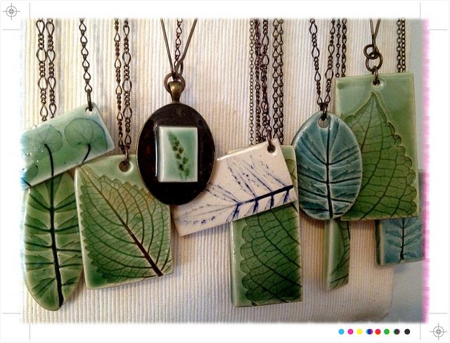 Leaf necklaces by Evelyn Taylor, via Flickr