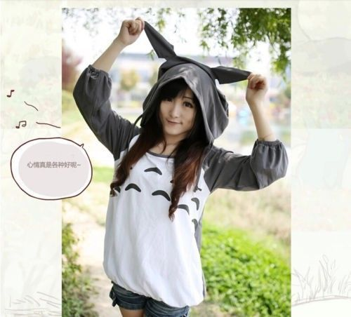 Sexy Lady Galesaur Totoro Cosplay Hoody Halloween Party Cute Costume