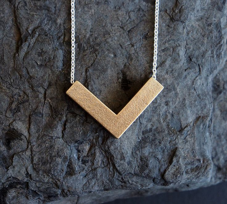 KORI unique 3D printed stainless steel pendant necklace jewellery jewelry sterling silver long chain geometric bold signature womens gift by OLOVdesigns on Etsy