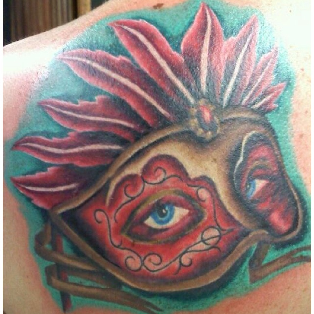 Masquerade mask tattoos the image kid for Mardi gras mask tattoo