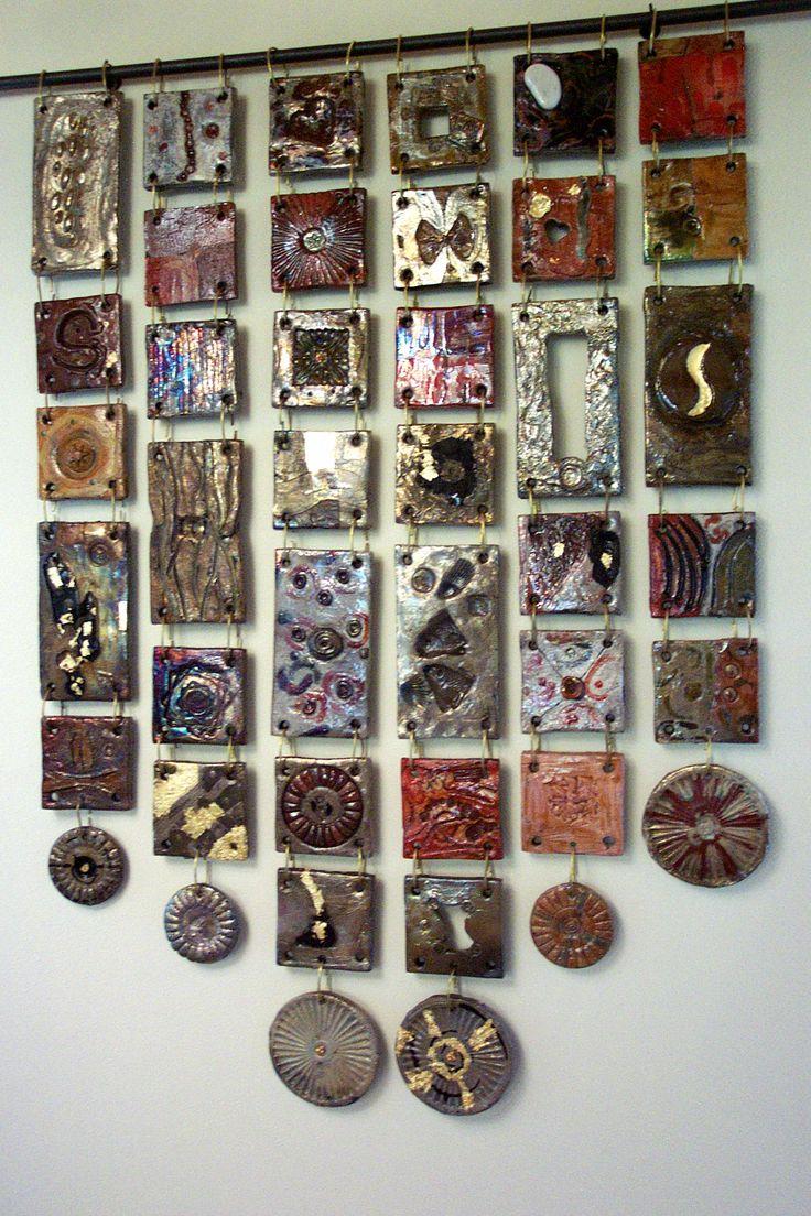 Tiles Intriguing and unique artifacts, forged one by one, made in limitless shapes and colours. They may be used to decorate edges, terminals, niches, decors, depending on the client's desire. www.forgiatoredie... ... Incantevoli formelle, pezzi unici, forgiati a mano uno ad uno, di misure, colori e forme illimitate, da inserire come bordi, terminali, nicchie, isolate, decorazioni, a fantasia del cliente…#ceramica#raku