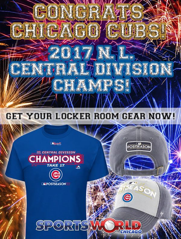 Congratulations Chicago Cubs 2017 NL Central Division Champions!  #chicagocubs  #mlb  #flythew  #Cubs